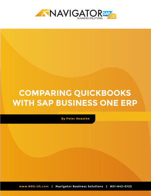 Comparing QuickBooks with SAP Business One ERP