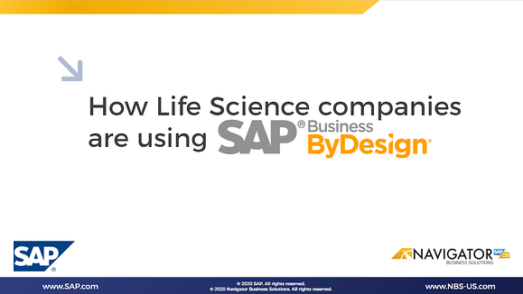 How growing and mid-size Life Science companies leverage SAP Cloud ERP - [Webinar]