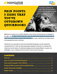 Pain Points- 5 Signs That You've Outgrown Quickbooks